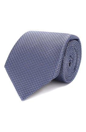 Мужской шелковый галстук CANALI синего цвета, арт. 18/HJ02622   Фото 1