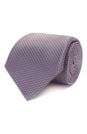 Мужской шелковый галстук CANALI розового цвета, арт. 18/HJ02622 | Фото 1
