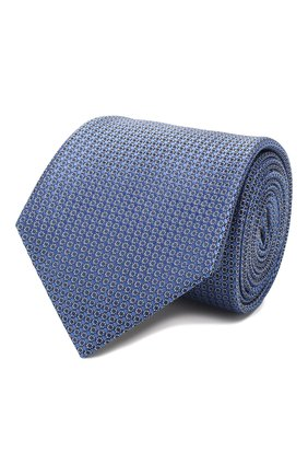 Мужской шелковый галстук CANALI синего цвета, арт. 18/HJ02621   Фото 1