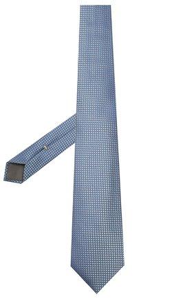Мужской шелковый галстук CANALI синего цвета, арт. 18/HJ02621   Фото 2