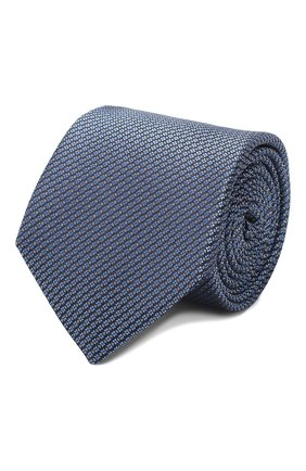 Мужской шелковый галстук CANALI голубого цвета, арт. 18/HJ02620   Фото 1