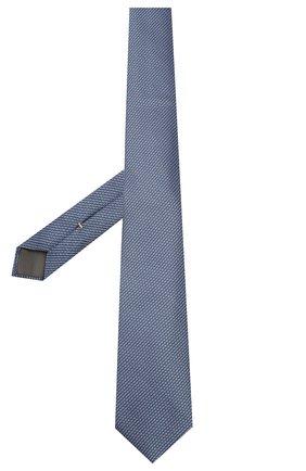 Мужской шелковый галстук CANALI голубого цвета, арт. 18/HJ02620   Фото 2