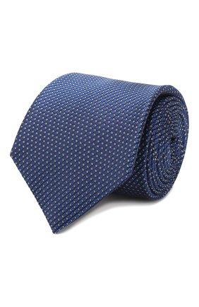 Мужской шелковый галстук CANALI синего цвета, арт. 18/HJ02620   Фото 1