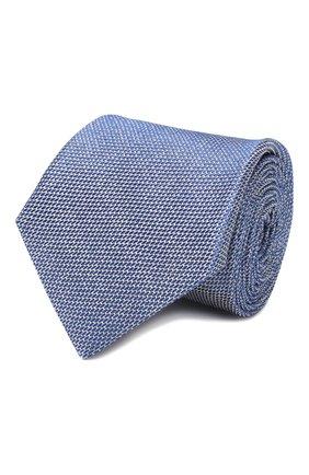 Мужской шелковый галстук CANALI синего цвета, арт. 18/HJ02618   Фото 1