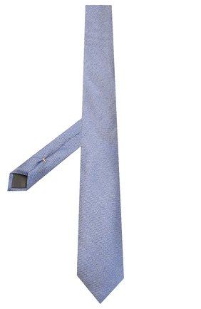 Мужской шелковый галстук CANALI синего цвета, арт. 18/HJ02618   Фото 2