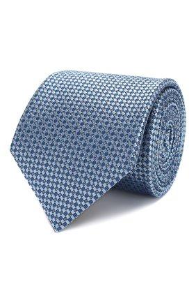Мужской шелковый галстук CANALI голубого цвета, арт. 18/HJ02615   Фото 1