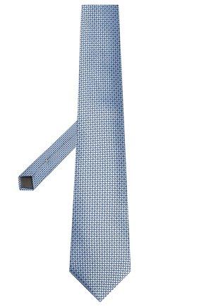 Мужской шелковый галстук CANALI голубого цвета, арт. 18/HJ02615   Фото 2