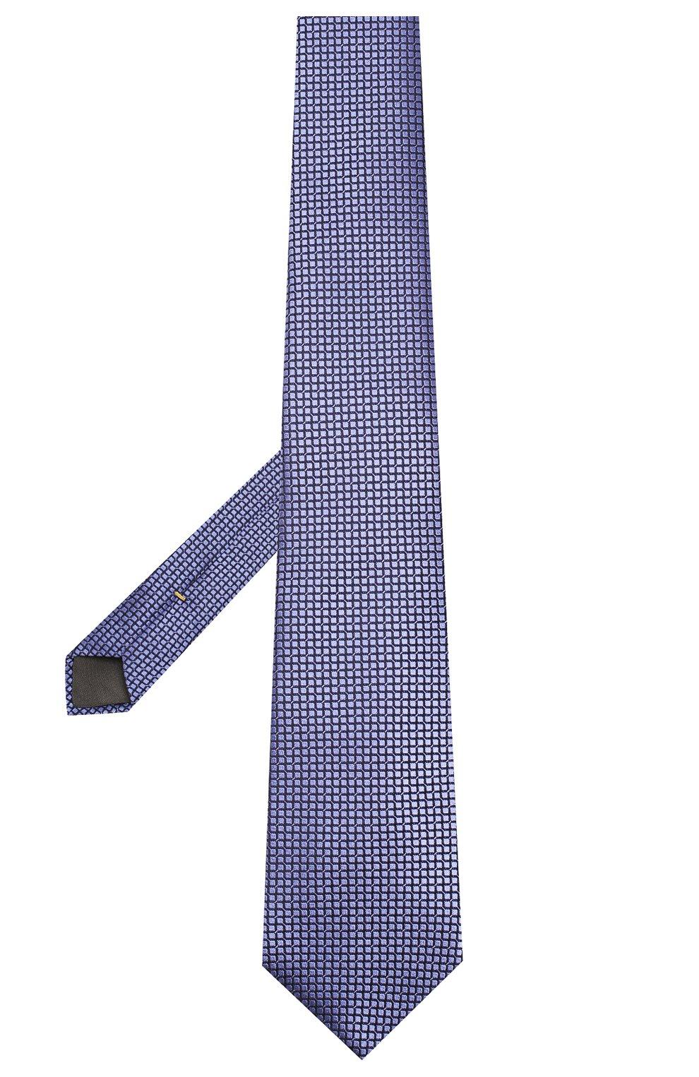 Мужской шелковый галстук CANALI фиолетового цвета, арт. 18/HJ02614 | Фото 2