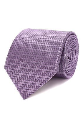 Мужской шелковый галстук CANALI сиреневого цвета, арт. 18/HJ02613 | Фото 1