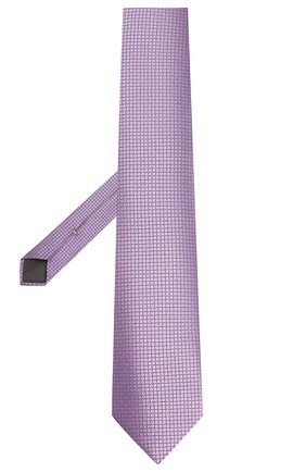 Мужской шелковый галстук CANALI сиреневого цвета, арт. 18/HJ02613 | Фото 2