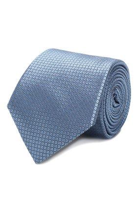 Мужской шелковый галстук CANALI голубого цвета, арт. 18/HJ02613   Фото 1