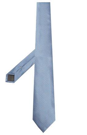 Мужской шелковый галстук CANALI голубого цвета, арт. 18/HJ02613   Фото 2
