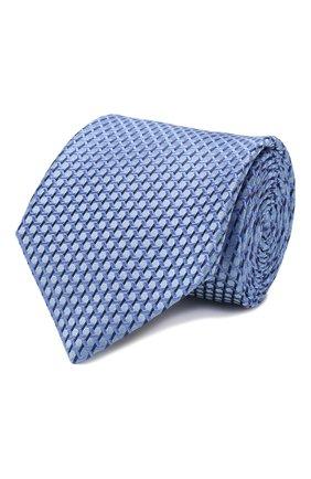Мужской шелковый галстук CANALI голубого цвета, арт. 18/HJ02610   Фото 1