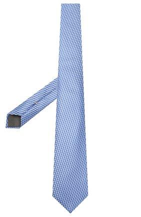 Мужской шелковый галстук CANALI голубого цвета, арт. 18/HJ02610   Фото 2