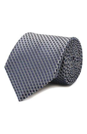 Мужской шелковый галстук CANALI синего цвета, арт. 18/HJ02610   Фото 1