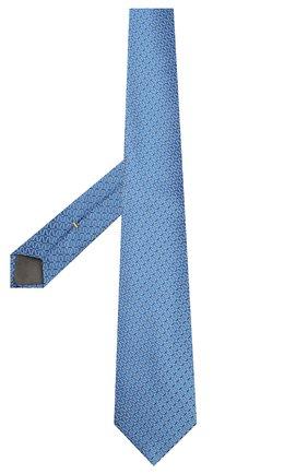 Мужской шелковый галстук CANALI синего цвета, арт. 18/HJ02609   Фото 2