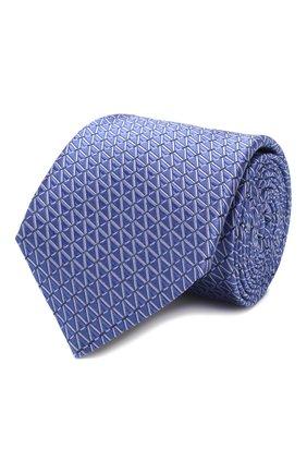 Мужской шелковый галстук CANALI фиолетового цвета, арт. 18/HJ02609 | Фото 1