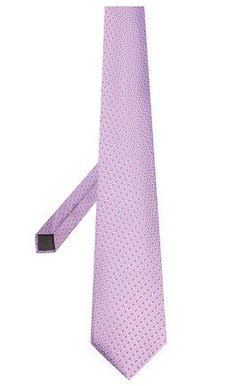 Мужской шелковый галстук CANALI сиреневого цвета, арт. 18/HJ02609 | Фото 2