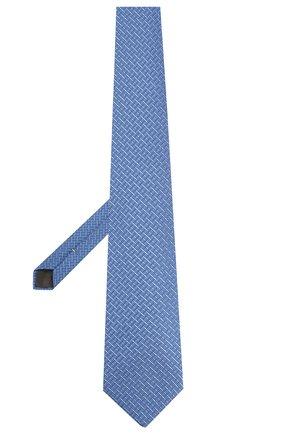 Мужской шелковый галстук CANALI синего цвета, арт. 18/HJ02608   Фото 2