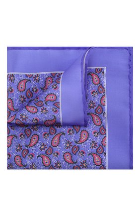 Мужской шелковый платок CANALI сиреневого цвета, арт. 03/HS02761 | Фото 1