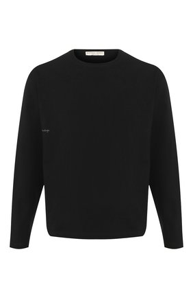 Мужская хлопковый лонгслив BOTTEGA VENETA черного цвета, арт. 610265/VF1U0   Фото 1