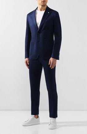 Мужской хлопковый костюм L.B.M. 1911 синего цвета, арт. 3821/05768 | Фото 1