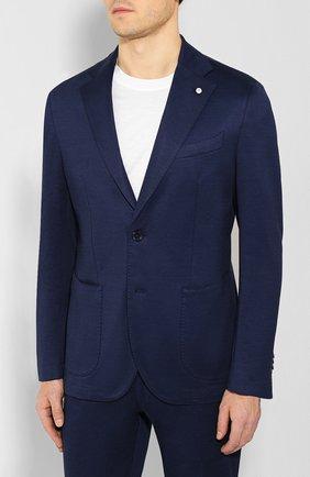 Мужской хлопковый костюм L.B.M. 1911 синего цвета, арт. 3821/05768 | Фото 2