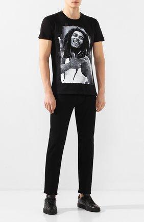 Мужские кожаные кеды SANTONI черного цвета, арт. MBGL20850NE0FSSSN01 | Фото 2