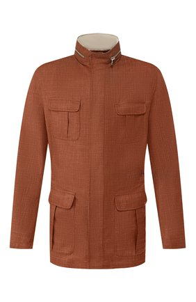Куртка из смеси шерсти и льна | Фото №1
