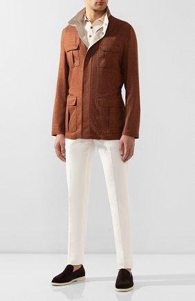 Куртка из смеси шерсти и льна | Фото №2