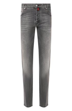 Мужские джинсы KITON серого цвета, арт. UPNJS/J07S11 | Фото 1