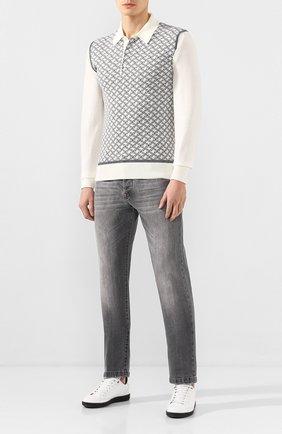 Мужские джинсы KITON серого цвета, арт. UPNJS/J07S11 | Фото 2