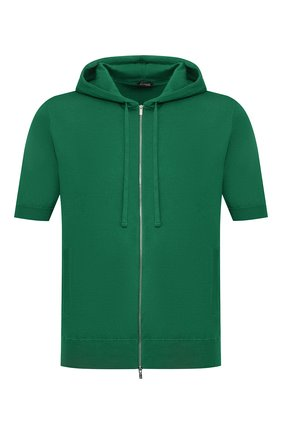 Мужская хлопковый кардиган KITON зеленого цвета, арт. UK1049M | Фото 1