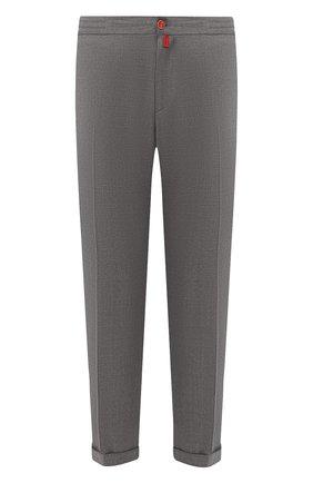 Мужские шерстяные брюки KITON серого цвета, арт. UFPLACJ07S65   Фото 1