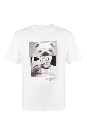 Мужская хлопковая футболка NEIL BARRETT белого цвета, арт. PBJT690B/N536S | Фото 1