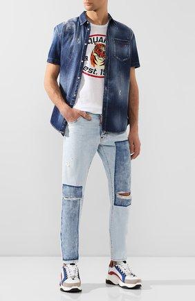 Мужская джинсовая рубашка DSQUARED2 синего цвета, арт. S74DM0374/S30341 | Фото 2