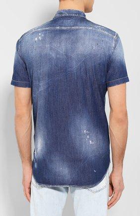 Мужская джинсовая рубашка DSQUARED2 синего цвета, арт. S74DM0374/S30341 | Фото 4