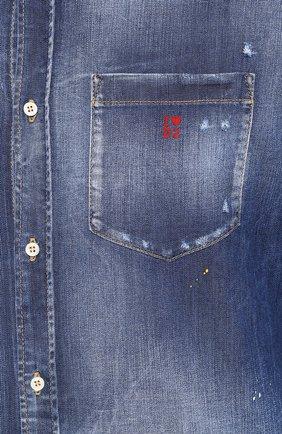 Мужская джинсовая рубашка DSQUARED2 синего цвета, арт. S74DM0374/S30341 | Фото 5