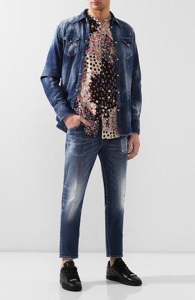 Мужская хлопковая рубашка DSQUARED2 разноцветного цвета, арт. S74DM0404/S52656 | Фото 2