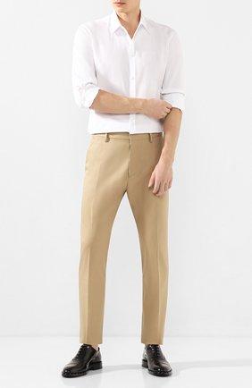 Мужской хлопковые брюки DSQUARED2 бежевого цвета, арт. S74KB0403/S41794 | Фото 2