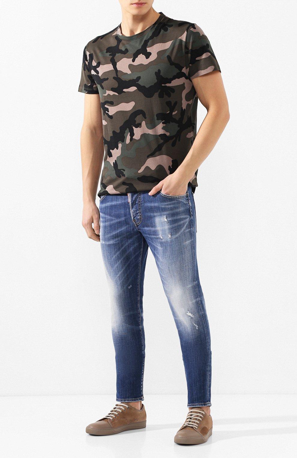 Мужские джинсы DSQUARED2 синего цвета, арт. S74LB0715/S30342 | Фото 2