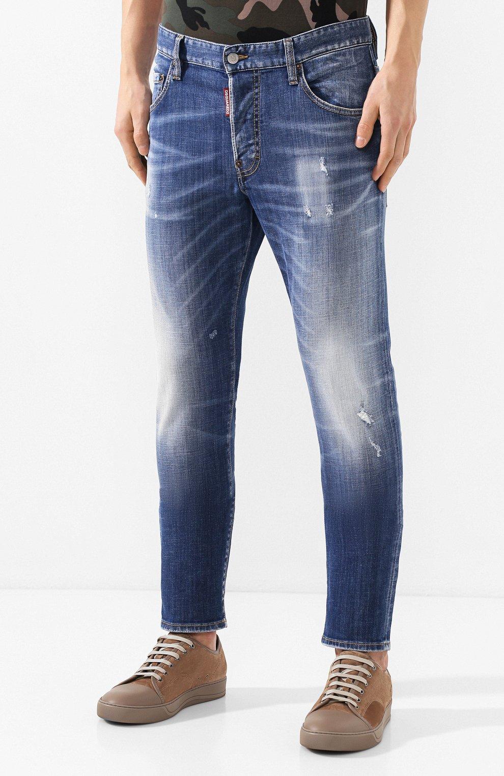 Мужские джинсы DSQUARED2 синего цвета, арт. S74LB0715/S30342 | Фото 3