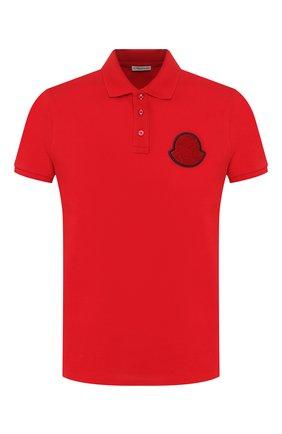 Мужское хлопковое поло MONCLER красного цвета, арт. F1-091-8A704-00-84556 | Фото 1