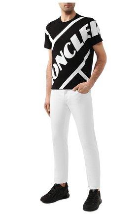 Мужская хлопковая футболка MONCLER черного цвета, арт. F1-091-8C706-10-8390T | Фото 2