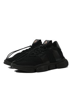 Мужские текстильные кроссовки MONCLER черного цвета, арт. F1-09A-4M702-00-02S74 | Фото 1