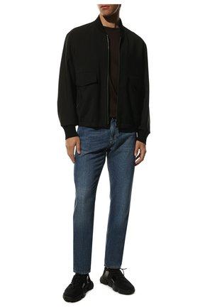 Мужские текстильные кроссовки MONCLER черного цвета, арт. F1-09A-4M702-00-02S74 | Фото 2