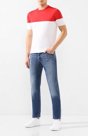 Мужские текстильные кроссовки KITON белого цвета, арт. USSFITSN00609 | Фото 2 (Подошва: Плоская; Материал внешний: Текстиль; Материал внутренний: Натуральная кожа; Статус проверки: Проверена категория; Стили: Спорт)