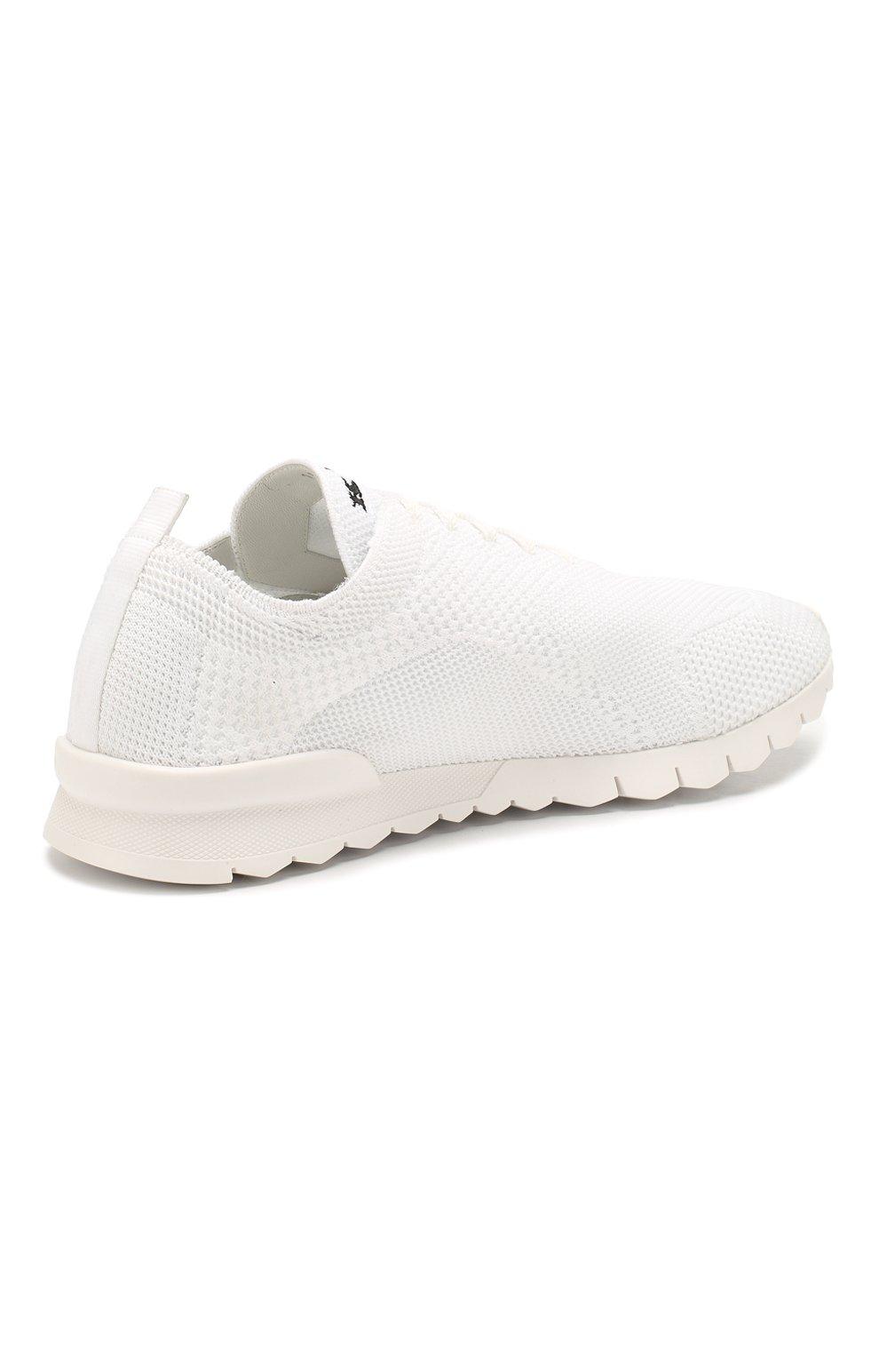 Мужские текстильные кроссовки KITON белого цвета, арт. USSFITSN00609 | Фото 4