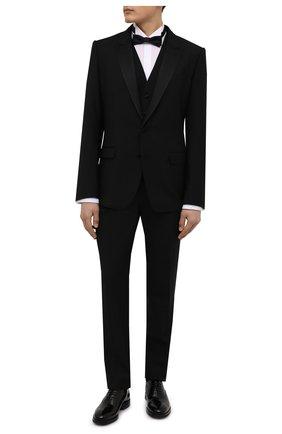 Мужской шерстяной смокинг-тройка DOLCE & GABBANA черного цвета, арт. GK2WMT/FU2Z8 | Фото 1