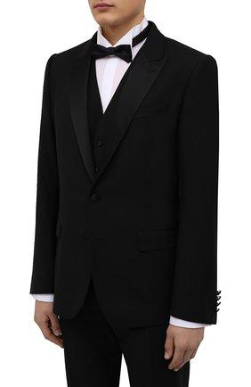 Мужской шерстяной смокинг-тройка DOLCE & GABBANA черного цвета, арт. GK2WMT/FU2Z8 | Фото 2